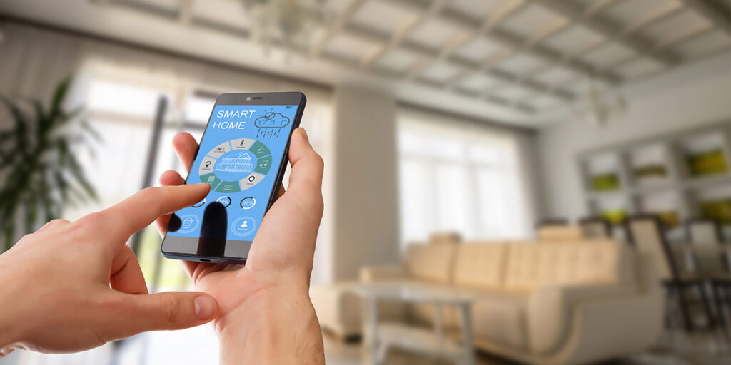 ustawianie parametrów smart home za pomocą telefonu